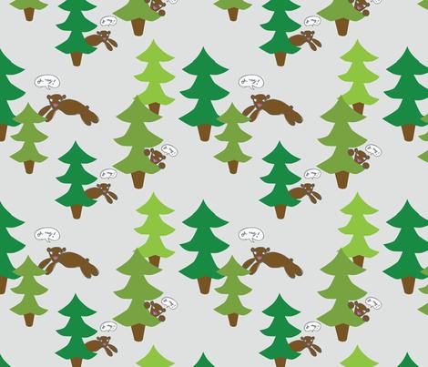 bears fabric by circlesandsticks on Spoonflower - custom fabric