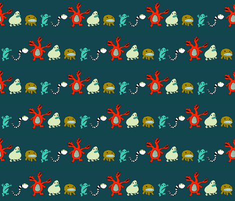 Monster Parade fabric by tysonb on Spoonflower - custom fabric