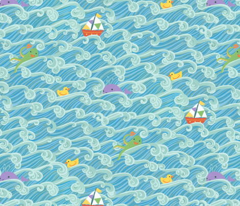 ahoybabyboy fabric by mrsjellyfish on Spoonflower - custom fabric