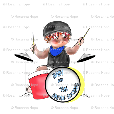 Baby Rockin Drummer by Rosanna Hope for Babybonbons