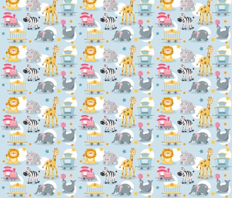 Lil' Circus Train Boy fabric by shalaetippetts on Spoonflower - custom fabric