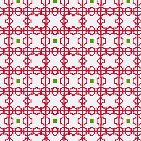 Chinoiserie Fretwork Christmas Screen fabric by boris_thumbkin on Spoonflower - custom fabric