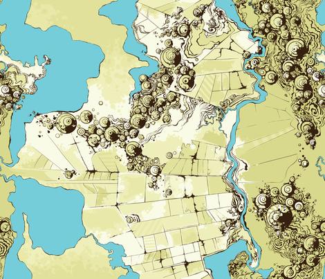 Satellite Images fabric by fuzzyskyfabric on Spoonflower - custom fabric