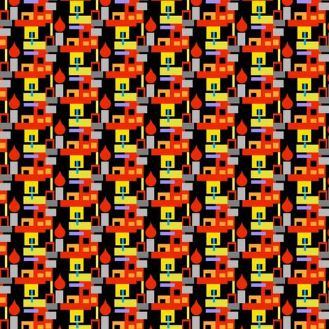 Candlelit Apartment Building fabric by boris_thumbkin on Spoonflower - custom fabric