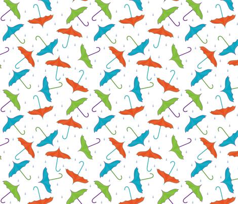 umbrella_toss_rainFAT fabric by diane_marie on Spoonflower - custom fabric