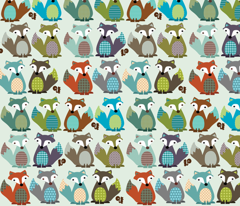 FOX TAILS fabric by petunias on Spoonflower - custom fabric