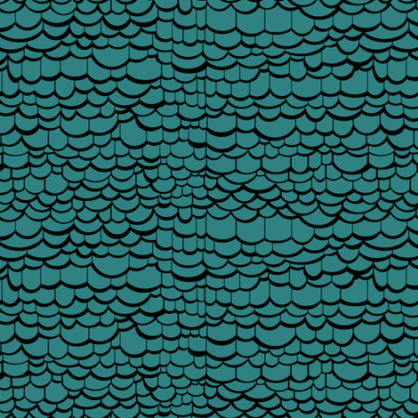 Turquoise Dragon Skin fabric by pond_ripple on Spoonflower - custom fabric