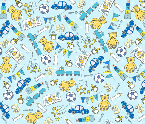 It's a Boy! fabric by lovefrombeth on Spoonflower - custom fabric