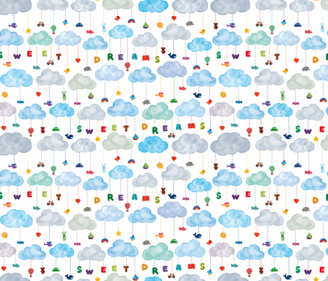 sweet_dreams fabric by made_in_shina on Spoonflower - custom fabric