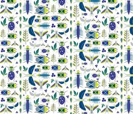 Bugs fabric by twenty8dots on Spoonflower - custom fabric