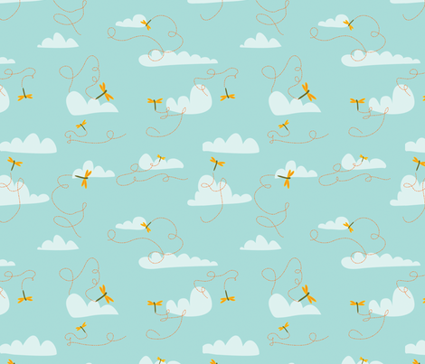 clouds fabric by lighthearts on Spoonflower - custom fabric
