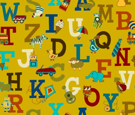 Alphabet Soup fabric by hayley_sayles on Spoonflower - custom fabric