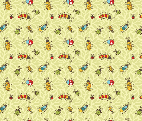 Cute & Crawly fabric by m0dm0m on Spoonflower - custom fabric