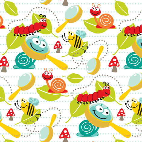 Little Bugaboo - Whimsical Bug Adventure fabric by heatherdutton on Spoonflower - custom fabric