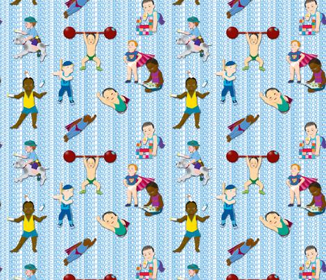 Boy-O-Boy-O-Boy! (Baby Boy Contest) fabric by tallulahdahling on Spoonflower - custom fabric