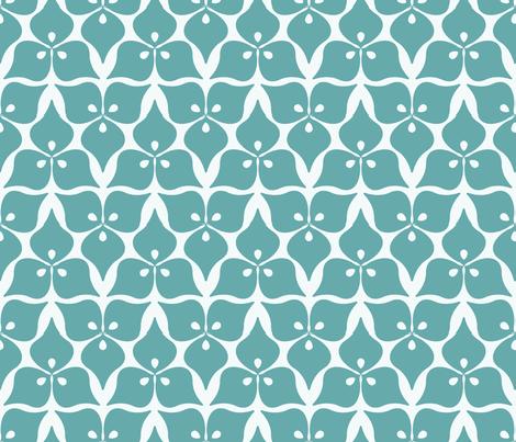 three leaves blue fabric by myracle on Spoonflower - custom fabric