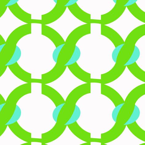 jelly bean green chain fabric by fleamarkettrixie on Spoonflower - custom fabric