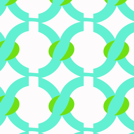 jelly bean turquoise chain fabric by fleamarkettrixie on Spoonflower - custom fabric
