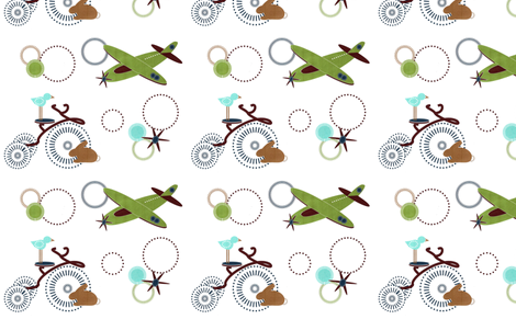 Boys Go Round fabric by cil on Spoonflower - custom fabric
