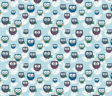 owls fabric by msapulina on Spoonflower - custom fabric
