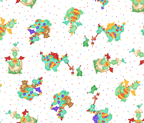 Baby Dragons fabric by beebumble on Spoonflower - custom fabric