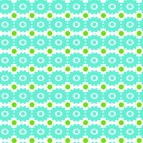 green dots fabric by fleamarkettrixie on Spoonflower - custom fabric
