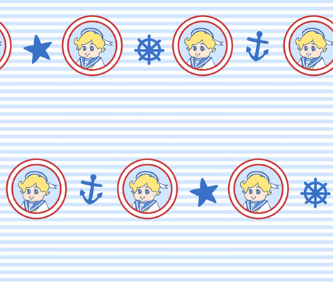 My Little Sailor fabric by shirayukin on Spoonflower - custom fabric