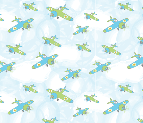 Planes fabric by lisa_ws on Spoonflower - custom fabric