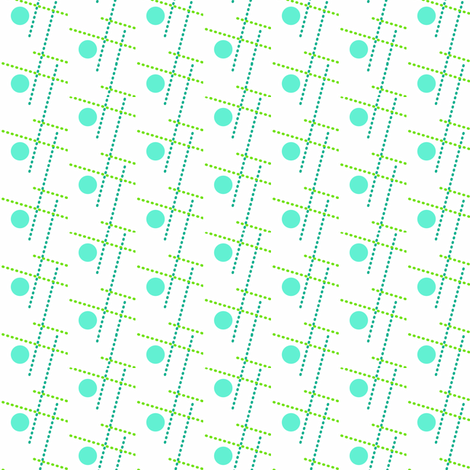 retro dots fabric by fleamarkettrixie on Spoonflower - custom fabric