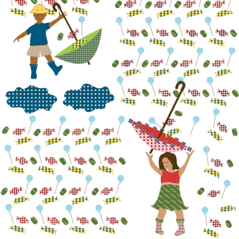 candy rain fabric by krihem on Spoonflower - custom fabric