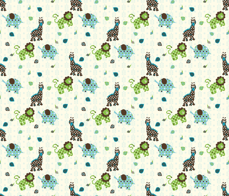 Polka Dot Safari (Project Selvage) fabric by deesignor on Spoonflower - custom fabric