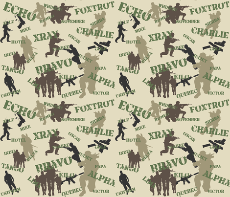 Army Alphabet fabric by tuesdaydesigns on Spoonflower - custom fabric