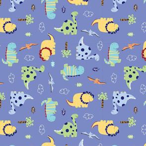 Dino_Land_Fabric_design