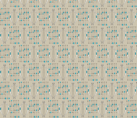 Bow & Arrow - Teal fabric by angiejohnson on Spoonflower - custom fabric