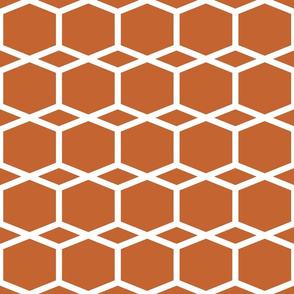 Modern Lattice BurntOrange