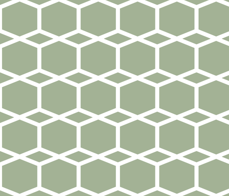 Modern Lattice GreenGrey fabric by dolphinandcondor on Spoonflower - custom fabric