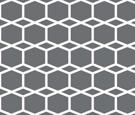Modern Lattice BlueGrey fabric by dolphinandcondor on Spoonflower - custom fabric