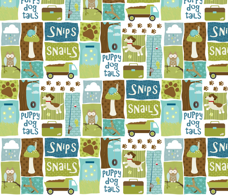 Snips n Snails fabric by inktreepress on Spoonflower - custom fabric
