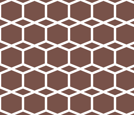 Modern Lattice PurpBrown fabric by dolphinandcondor on Spoonflower - custom fabric