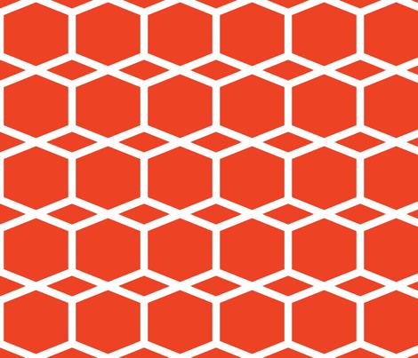 Modern Lattice Red fabric by dolphinandcondor on Spoonflower - custom fabric