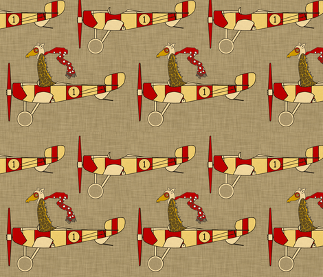 flight_school_aircraft fabric by holli_zollinger on Spoonflower - custom fabric