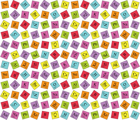 Topsy Turvy Periodic fabric by robyriker on Spoonflower - custom fabric