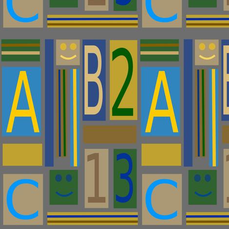 abc 123 fabric by ravyn42 on Spoonflower - custom fabric
