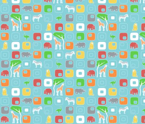 Geo Safari fabric by mandyd on Spoonflower - custom fabric