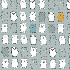 bears in gray