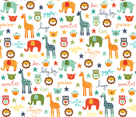 CW_BabyAnimals fabric by creativitybycrystal on Spoonflower - custom fabric