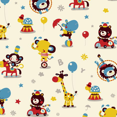 Circus fun for little one! fabric by bora on Spoonflower - custom fabric
