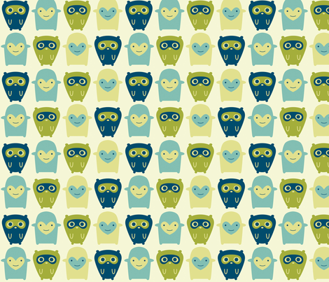 Little Boy Monsters fabric by nerida_jeannie on Spoonflower - custom fabric