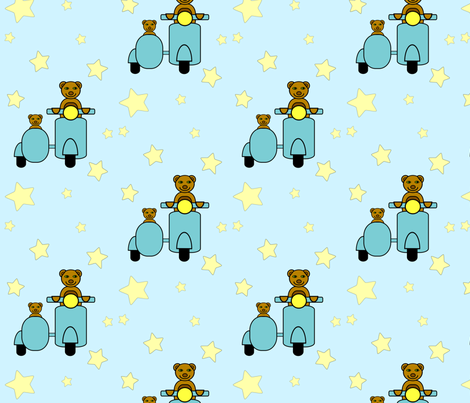 Papa Bear and Baby Bear fabric by donnadawn on Spoonflower - custom fabric