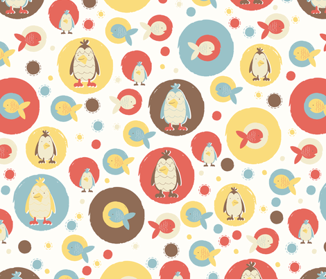 flippers and kippers fabric by mondaland on Spoonflower - custom fabric